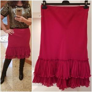 LIKE NEW! VERY ELEGANT Skirt. Layered Ruffled Hem.